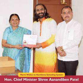 Sairam With Hon. Chief Minister Shree Anandiben Patel
